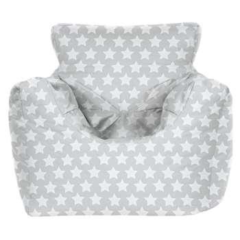Argos Home Kids Funzee Silver Stars Bean Bag (H55 x W62 x D62cm)