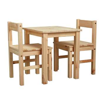 Argos Home - Kids Scandinavia Table and 2 Chairs - Pine