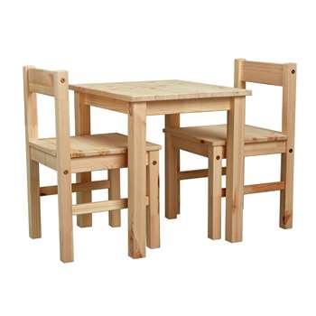 Argos Home - Kids Scandinavia Table and 2 Chairs - Pine