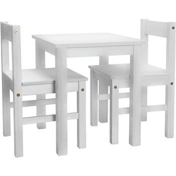 Argos Home - Kids Scandinavia Table and 2 Chairs - White (H52 x W45 x D35cm)