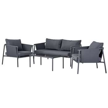 Argos Home Komoe Steel Sofa Set - Grey