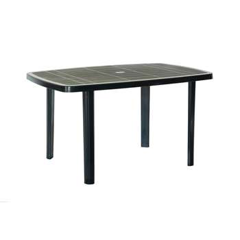 Argos Home Large Anthracite Oblong Resin Table (H72 x W137 x D85cm)