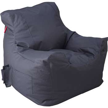 Argos Home Large Black Teenager Beanbag (H70 x W65 x D65cm)