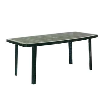 Argos Home Large Oval Table - Green (H72 x W176 x D87cm)