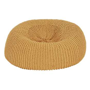 Argos Home Large Wool Beanbag - Ochre (H70 x W70 x D70cm)