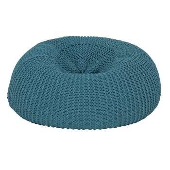 Argos Home Large Wool Beanbag - Teal (H70 x W70 x D70cm)