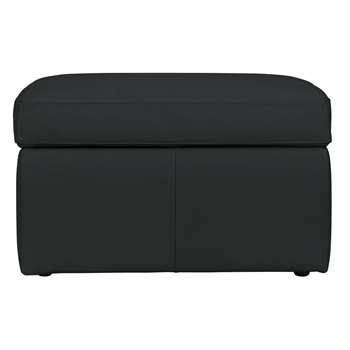 Argos Home Leather Storage Footstool - Black (H45 x W75 x D58cm)