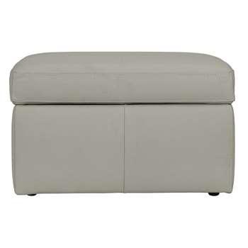 Argos Home Leather Storage Footstool - Grey (H45 x W75 x D58cm)