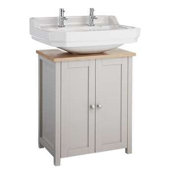 Argos Home Livingston Undersink Storage - Grey & Pine (H60 x W51 x D33cm)