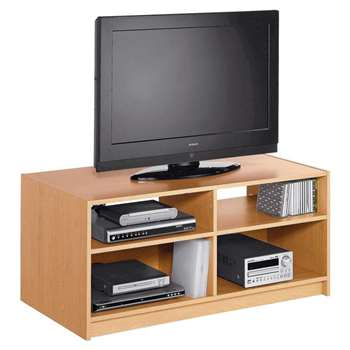 Argos Home Maine TV Unit - Beech Effect (H46 x W103 x D50cm)