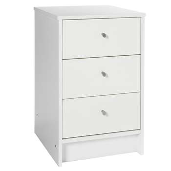 Argos Home Malibu White Gloss 3 Drawer Bedside Chest (H61 x W39 x D40cm)