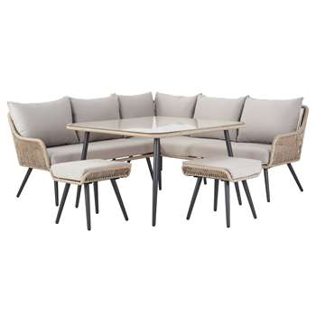 Argos Home Malta 6 Seater Steel Corner Sofa Set
