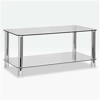 Argos Home - Matrix - Coffee Table - Clear Glass (H45 x W100 x D50cm)