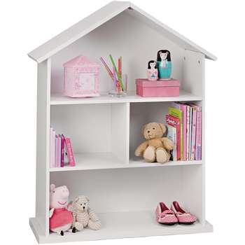 Argos Home - Mia Dolls House Bookcase - White (H89 x W68 x D30cm)