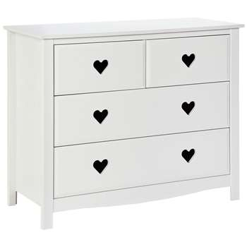 Argos Home Mia White 2+2 Chest of Drawers (H75 x W90 x D40cm)