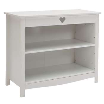 Argos Home Mia White 3 Shelf Bookcase (H73 x W86 x D40cm)