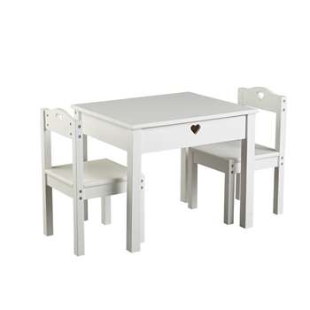 Argos Home Mia White Table & 2 Chairs