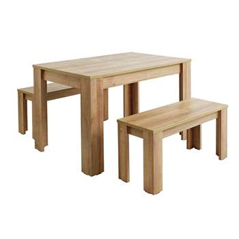 Argos Home Miami Oak Effect Table and Bench Set