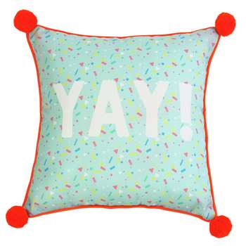 Argos Home Miami Pom Pom Yay Outdoor Cushion (H45 x W45cm)