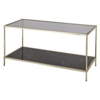 Argos Home Midnight Opulence Coffee Table - Bronze (H45.8 x W90 x D38cm)
