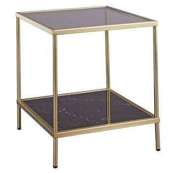 Argos Home Midnight Opulence End Table - Bronze (H42 x W38 x D38cm)