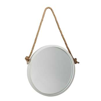 Argos Home Nautical Circular Rope Mirror - White (H65 x W40 x D3.5cm)