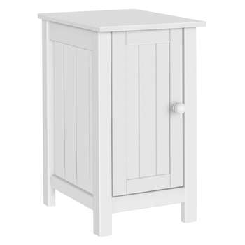 Argos Home New Scandinavia Slim Bedside Chest - White (H61 x W35 x D40cm)