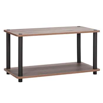 Argos Home New Verona Coffee Table - Dark Wood Effect (H41.5 x W80 x D39.5cm)
