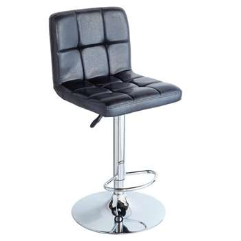 Argos Home Nitro Bar Stool - Black (H113.5 x W51.5 x D53.5cm)