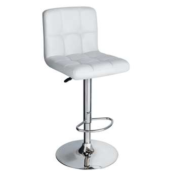 Argos Home Nitro Bar Stool - White (H113.5 x W51.5 x D53.5cm)