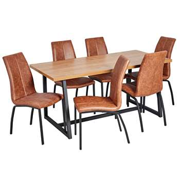 Argos Home Nomad 160cm Dining Table and 6 Chairs