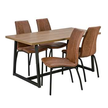 Argos Home Nomad Dining Table and 4 Chairs