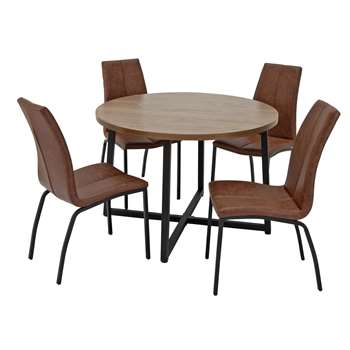 Argos Home Nomad Round Dining Table and 4 Chairs