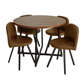 Argos Home Nomad Space Saving Dining Table and 4 Chairs