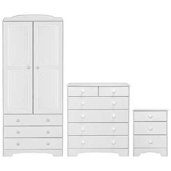 Argos Home Nordic 3 Piece 2 Door Wardrobe Set - Soft White