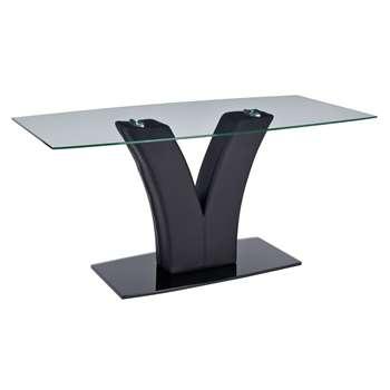 Argos Home Oriana Glass Coffee Table - Black (H46 x W100 x D50cm)