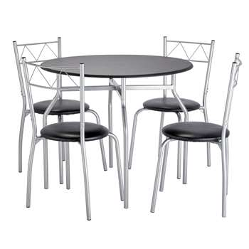 d2f8dd7556 Argos Home Oslo Round Dining Table & 4 Chairs - Black
