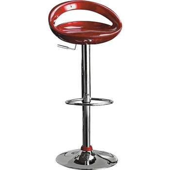 Argos Home Ottawa Gas Lift Bar Stool - Red (H78 x W47 x D45cm)