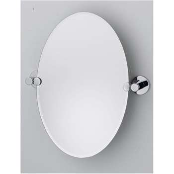 Argos Home Oval Tilting Bevelled Bathroom Mirror (H45 x W30 x D5cm)
