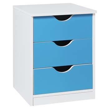 Argos Home Pagnell Blue Bedside Chest (H52.5 x W40 x D40.5cm)