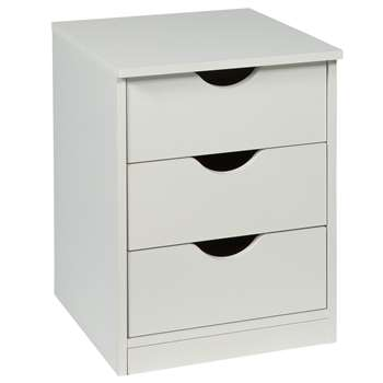 Argos Home Pagnell White Bedside Chest (H52.5 x W40 x D40.5cm)