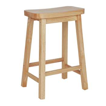 Argos Home Pair of Saddle Bar Stools - Natural (H60.9 x W41.5 x D32.1cm)