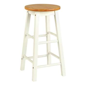 Argos Home Pair of Wooden Bar stools - Two Tone (H61 x W33.5 x D33.5cm)