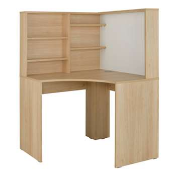 Argos Home Pepper Corner Desk - Oak Effect (H141 x W100 x D100cm)