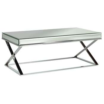 Argos Home Piazzo Mirrored Top Coffee Table (H45 x W120 x D65cm)