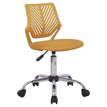 Argos Home Plastic Gas Lift Chair - Mustard Yellow (H88.5 x W42 x D46.5cm)