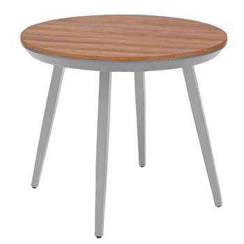 Argos Home Polywood Round 4 Seater Table - Grey (H71 x W84 x D84cm)
