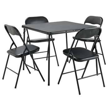 Argos Home Quin Metal Folding Table 4 Folding Chairs