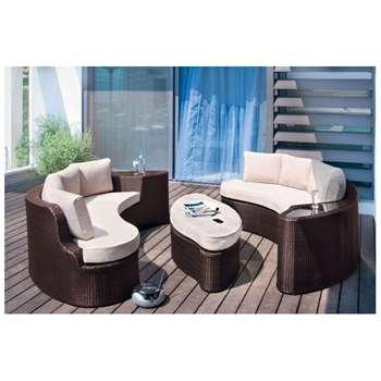 Argos Home - Rattan Effect - 6 Seater Patio Sofa Set - 2 Sofas