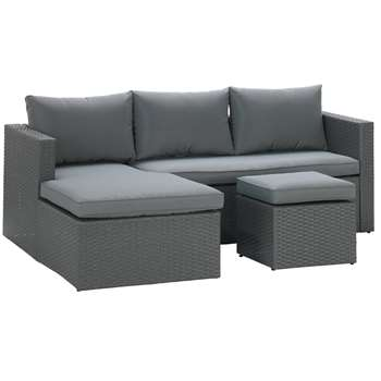 Argos Home Rattan Effect Reversible Mini Corner Sofa